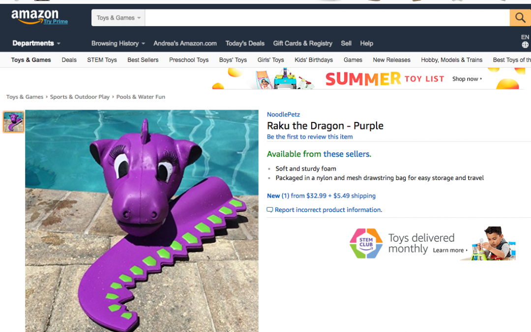 NoodlePetz Kickoff the First Day of Summer on Amazon